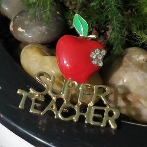 Super Teacher Pin